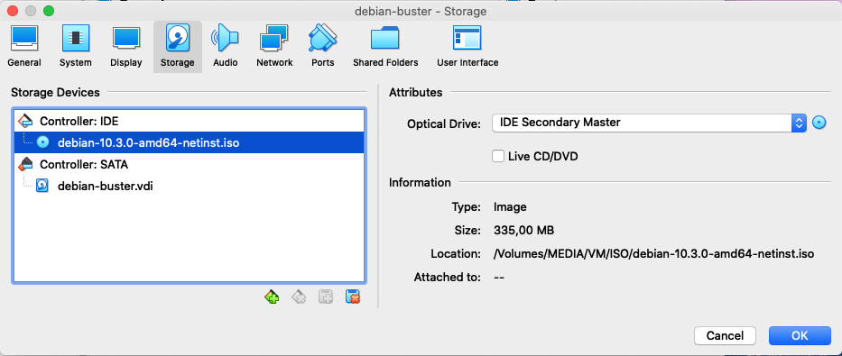 Creation VM Debian Buster sous VirtualBox - 5